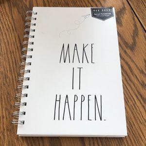 """Rae Dunn """"Make it happen"""" notebook"""
